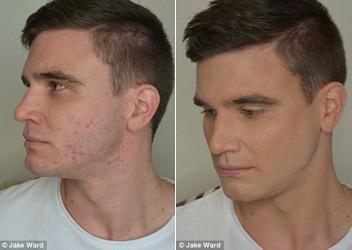 Men's Makeup Before and After
